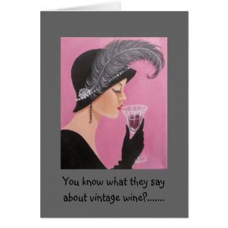 Vintage Lady Birthday Card