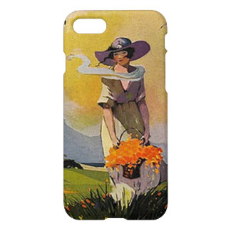 Vintage Lady by the Sea iPhone 7 Case