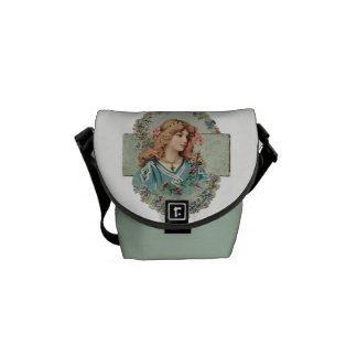 Vintage Lady Graphic Courier Bag