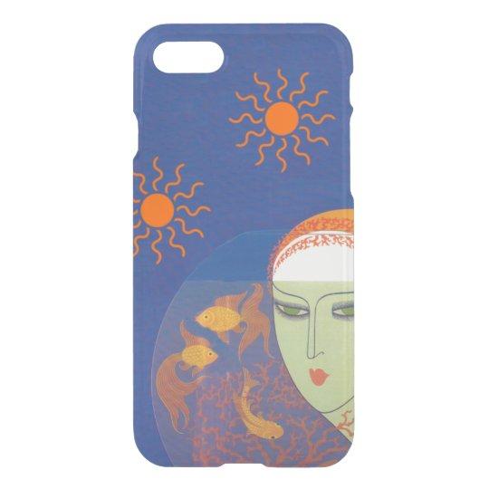 Vintage Lady Green Eyes Behind Goldfish Bowl Suns iPhone 7 Case