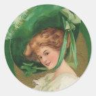 Vintage Lady in Green Sticker