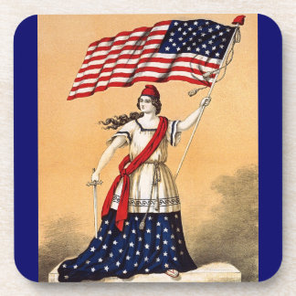 vintage lady liberty coaster