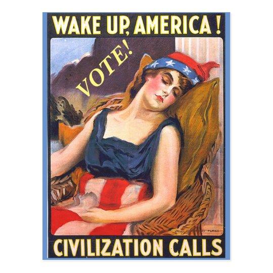 Vintage Lady Liberty Image on Political Postcards