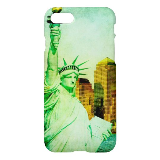 Vintage Lady Liberty iPhone 7 Glossy Case