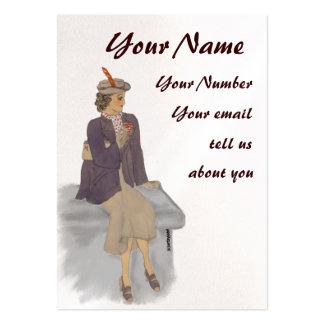 Vintage Lady profile card Business Card