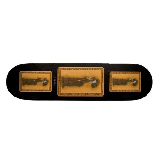 Vintage Lady Custom Skate Board