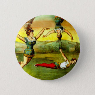 Vintage Lady Trapeze Acrobat Circus Act Poster Art 2 Inch Round Button