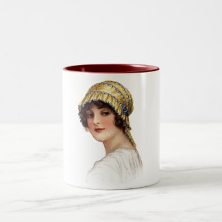Vintage Lady Wearing Bonnet Mug