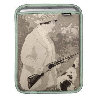 Vintage Lady Winchester Shotgun Apple iPad Sleeve