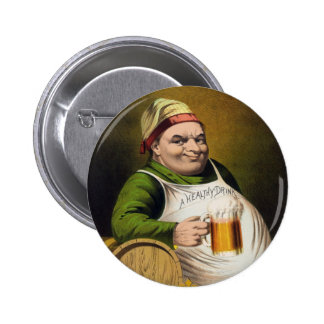 Vintage Lager Beer Advertisement 2 Inch Round Button