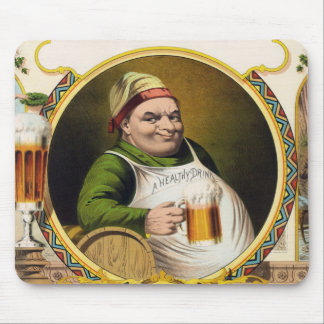 Vintage Lager Beer Advertisement Mouse Pads