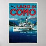 Vintage Lago di Como Travel Poster