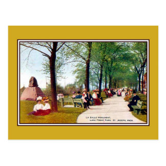 Vintage Lake Front Park St. Joseph MI Post Card