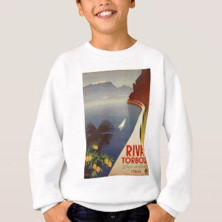 Vintage Lake Garda Riva Torbole Italy Tourism Sweatshirt