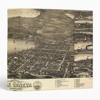 Vintage Lake Geneva Map Vinyl Binders