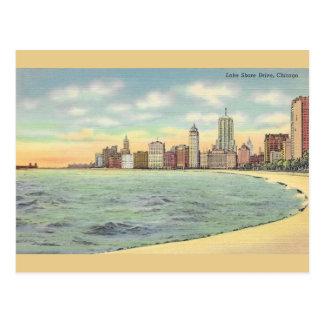 Vintage Lake Shore Drive Chicago Postcard