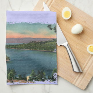Vintage Lake Tahoe Emerald Bay Hand Towel