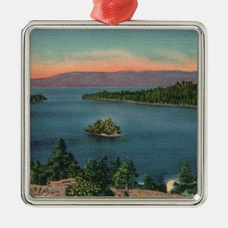 Vintage Lake Tahoe Emerald Bay Metal Ornament
