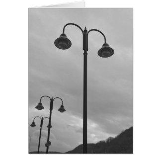Vintage Lamppost Black & White 4Zeke Card