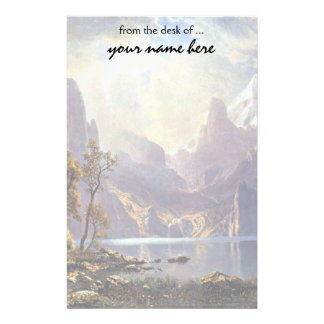Vintage Landscape, Lake Tahoe by Albert Bierstadt Stationery