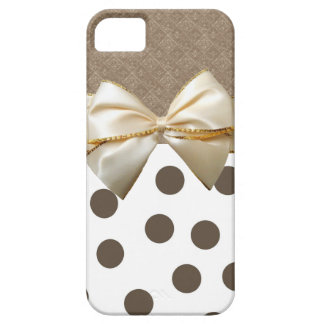 Vintage Large Brown Polka Dots iPhone 5 Case
