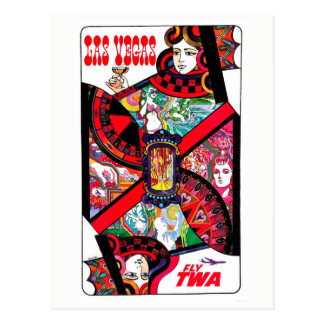 Vintage Las Vegas Gambling Queen Travel Postcard