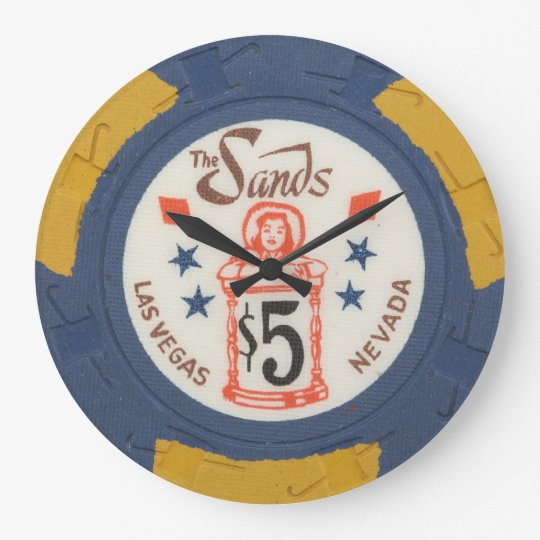 Vintage Las Vegas Poker Chip Modern Acryllic Clock