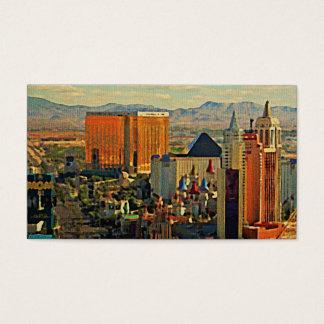 Vintage Las Vegas Skyline Business Card