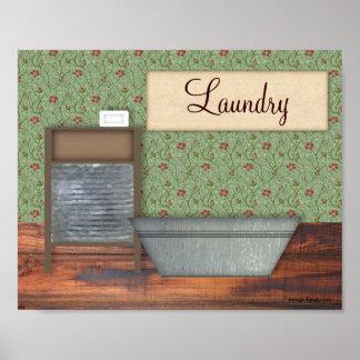 Vintage Laundry Print