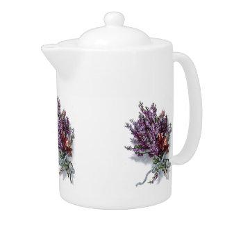 Vintage Lavender Bouquet Teapot