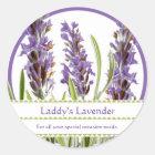 Vintage Lavender Custom Stickers