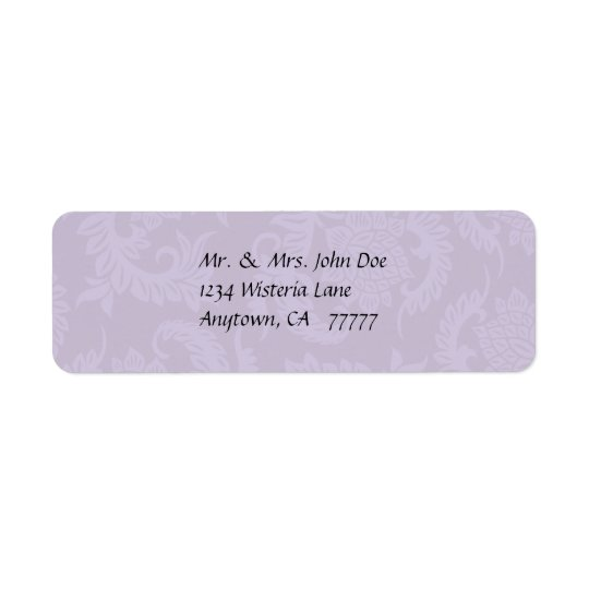 Vintage Lavender Damask Address Label