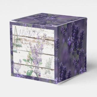 Vintage Lavender Favor Box