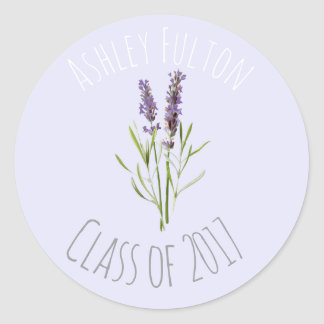 Vintage Lavender for graduations  2017 Classic Round Sticker