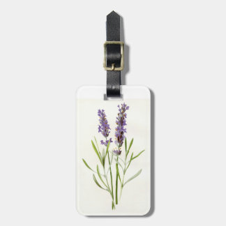 Vintage lavender luggage tag
