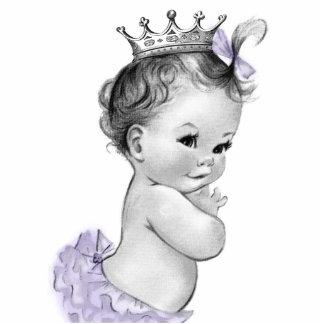 Vintage Lavender Princess Baby Girl Shower Cut Outs