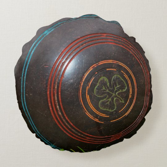 Vintage Lawn Bowl, Round Throw Cushion