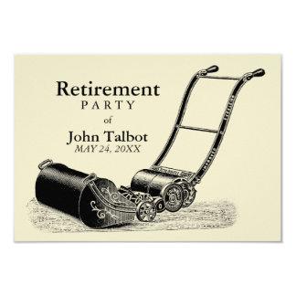 VINTAGE Lawn Mower Retirement Party Invitation