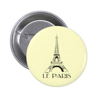 vintage le paris 2 inch round button