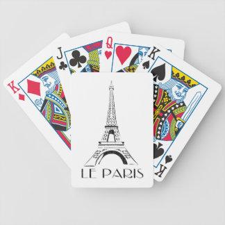 Vintage Le Paris - Paris Bicycle playing cards