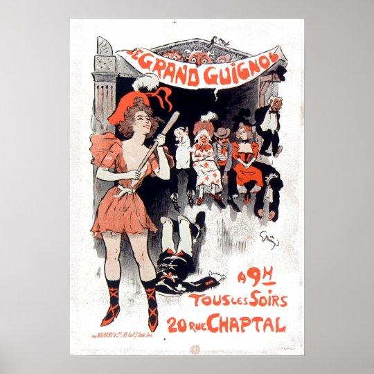 Vintage Le Théâtre du Grand-Guignol Poster