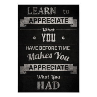 "Vintage ""Learn to Appreciate"" Poster"