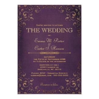 Vintage Leather Book Wedding Invitation