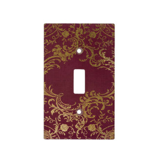 Vintage Leather Bound Book Light Switch Cover
