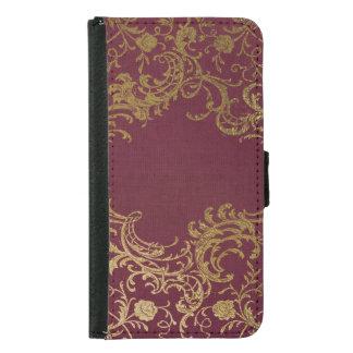 Vintage Leather Bound Book Samsung Galaxy S5 Wallet Case