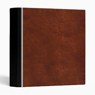 Vintage leather brown binder
