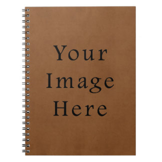 Vintage Leather Brown Parchment Paper Background Notebook