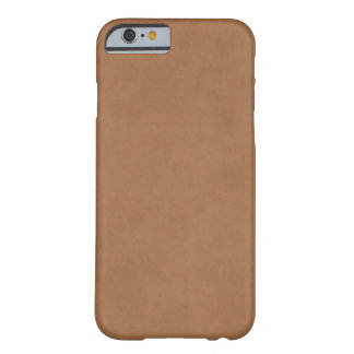 Vintage Leather Brown Parchment Paper Template Barely There iPhone 6 Case