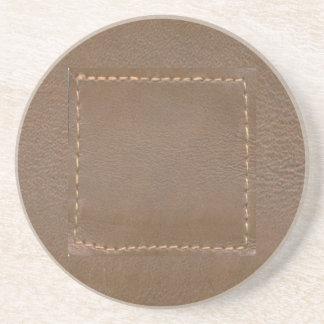 Vintage LEATHER Look Print Finish : Template Coaster