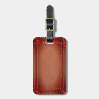 Vintage LEATHER Look Print Finish : Template Luggage Tag